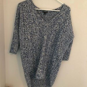Express blue & white sweater